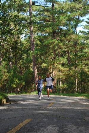 Running up the hills of Baguio